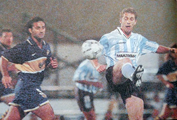 1997:  Boca le ganó a Racing Club 2 a 1