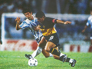 1996:  Boca le ganó a Racing Club 1 a 0