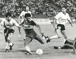 1989:  Boca le ganó a Racing Club 3 a 2