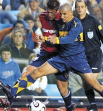 2006:  Boca le ganó a Independiente 1 a 0